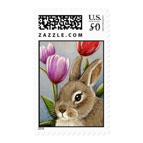 Bunny & Tulips Postage