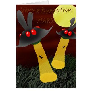 Bunny UFO's Greeting Card