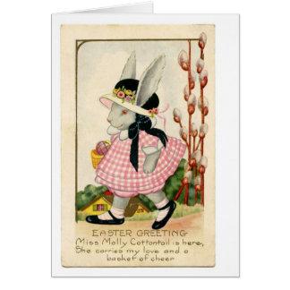 Bunny  vintage Easter  post card art.