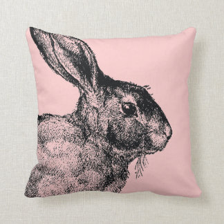 Bunny vintage pillow pink