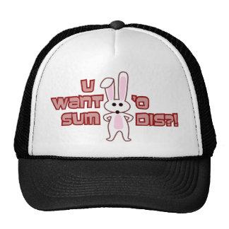 Bunny Want Sum Design Mesh Hats