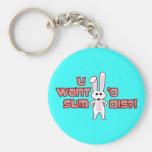 Bunny Want Sum Design Key Chain