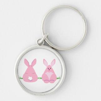 Bunny Watching Keychain