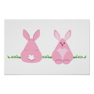 Bunny Watching Poster