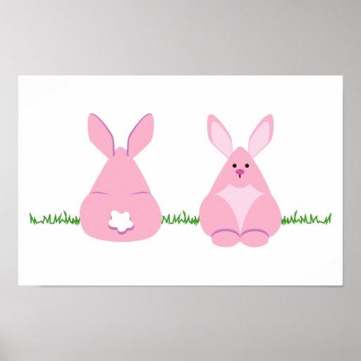 Bunny Watching Print