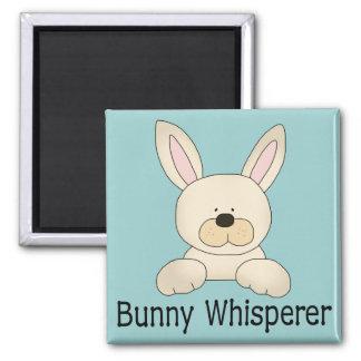 Bunny Whisperer 2 Inch Square Magnet