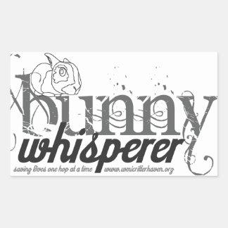 Bunny Whisperer rectangle sticker