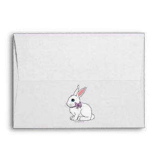 Bunny with a Bow Envelope
