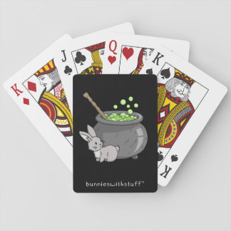 Bunny with a bubbling cauldron deck of cards