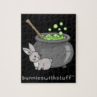 Bunny with a bubbling cauldron jigsaw puzzle