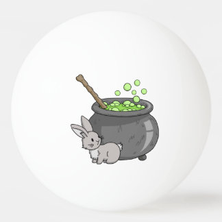 Bunny with a bubbling cauldron Ping-Pong ball