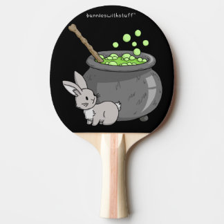 Bunny with a bubbling cauldron Ping-Pong paddle