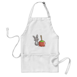 Bunny with a candy apple adult apron