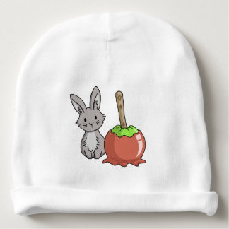 Bunny with a candy apple baby beanie