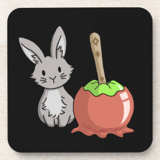 Bunny with a candy apple coaster
