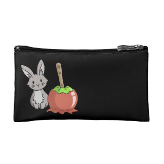 Bunny with a candy apple makeup bag