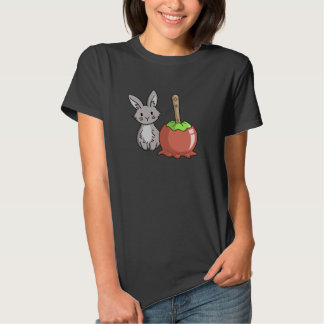 Bunny with a candy apple tee shirt