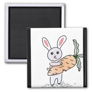 Bunny with a Carrot Magnet