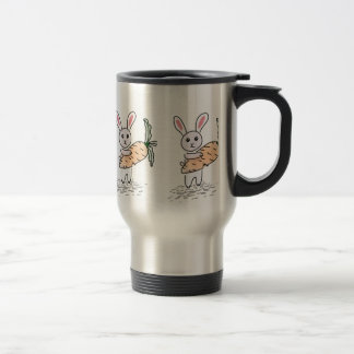 Bunny with a Carrot Travel Mug