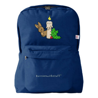 Bunny with a Christmas Candle American Apparel™ Backpack