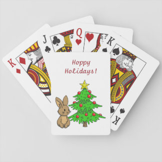 Bunny with a Christmas Tree Playing Cards