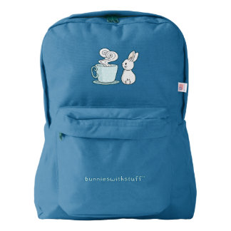 Bunny with a Cup of Tea American Apparel™ Backpack