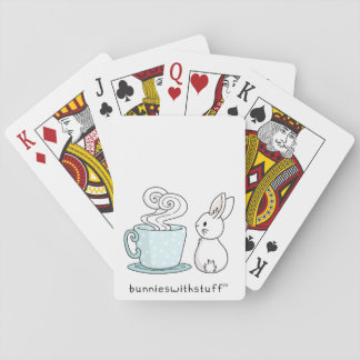 Bunny with a Cup of Tea Playing Cards