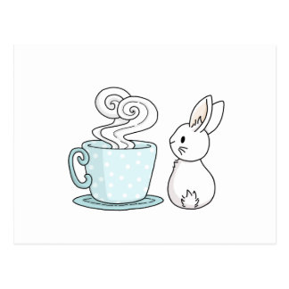 Bunny with a Cup of Tea Postcard