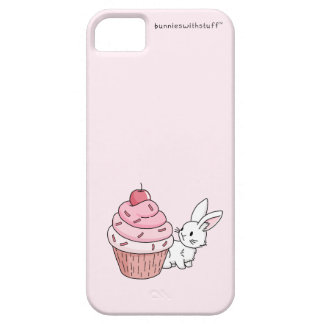 Bunny with a pink cupcake iPhone SE/5/5s case