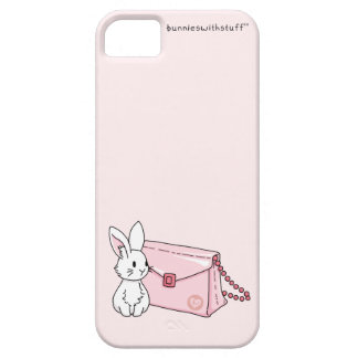 Bunny with a pink purse iPhone SE/5/5s case