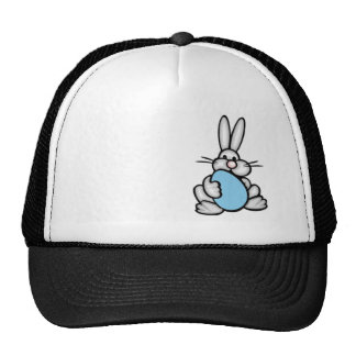 Bunny with Baby Blue Egg Hat