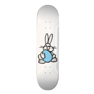 Bunny with Baby Blue Egg Skate Board