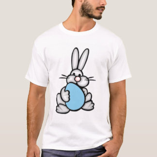 Bunny with Baby Blue Egg T-Shirt