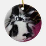 Bunny with Bow Ornament