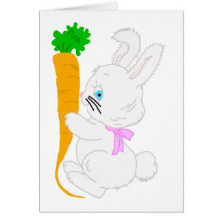 Bunny with Carrot-t Greeting Card