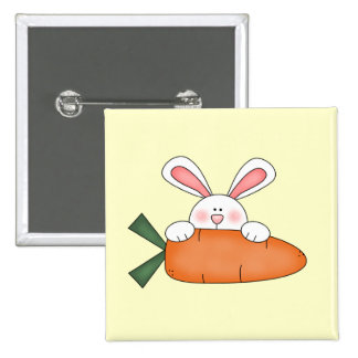 Bunny With Carrot Tshirts and Gifts Pinback Buttons
