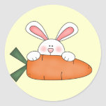 Bunny With Carrot Tshirts and Gifts Stickers