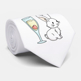 Bunny with Champagne Tie