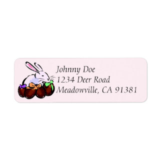 Bunny with Chocolate Eggs Address Labels
