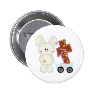 Bunny with cross button