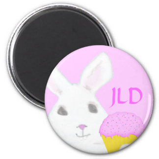 Bunny with Cup Cake Magnet