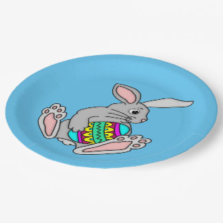 Bunny with Easter Egg Paper Plate