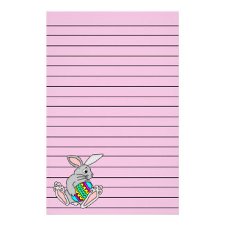 Bunny with Easter Egg Stationery