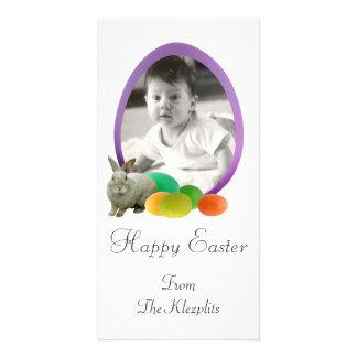 Bunny with Eggs Photo Card