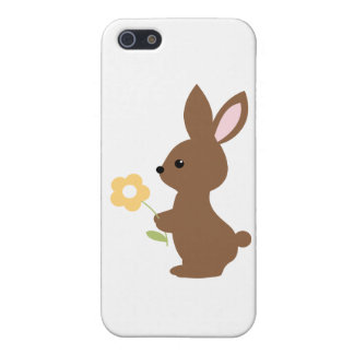Bunny with Flower iPhone 5 Cases