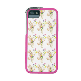 Bunny with flowers cartoon case for iPhone 5