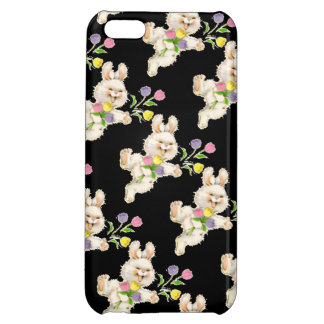 Bunny with flowers cartoon iPhone 5C cover