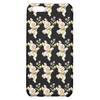 Bunny with flowers cartoon cover for iPhone 5C