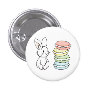 Bunny with Macaroons Button