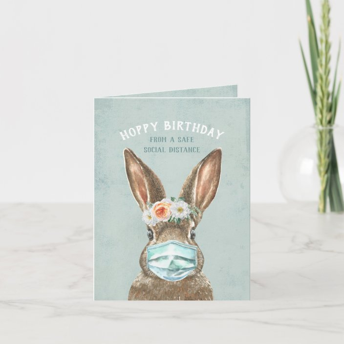 HAPPY BIRTHDAY GREETINGS CARD BEAUTIFUL HARE